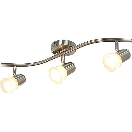 XiNBEi Lighting Track Lighting, 3 Light Track Light, Modern Track Light Bar Brushed Nickel for Kitchen and Dining Room XB-TR1213-3