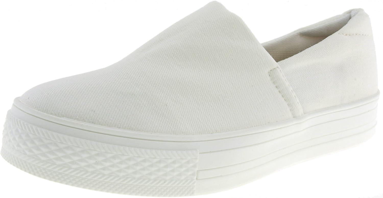 Maxstar CO3-C1 Spandex 3cm Platform Slip-Ons shoes