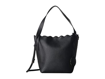 Vince Camuto Wavy Hobo (Black) Hobo Handbags