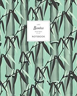 Bamboo Notebook - Ruled Pages - 8x10 - Large: (Spring Green Edition) Notebook 192 ruled/lined pages (8x10 inches / 20.3x2...