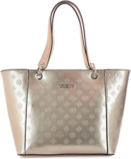 Luxury Fashion | Guess Womens HWPS6691230CHAMPAGNE Pink Tote | Fall Winter 19