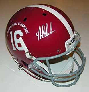 Nick Saban Autographed Signed Auto Alabama 2015 Natl Champs Full Size Helmet - Beckett Proof
