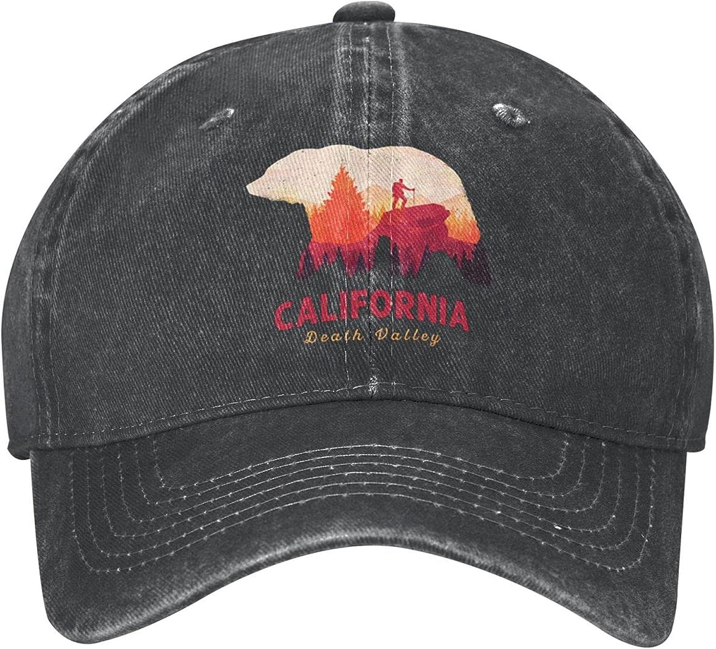 California Death Valley National Park Funny Hat Baseball Cap Dad&Mom Caps Trucker Hats Adjustable Unisex Cap Low Profile Comfortable Material Black