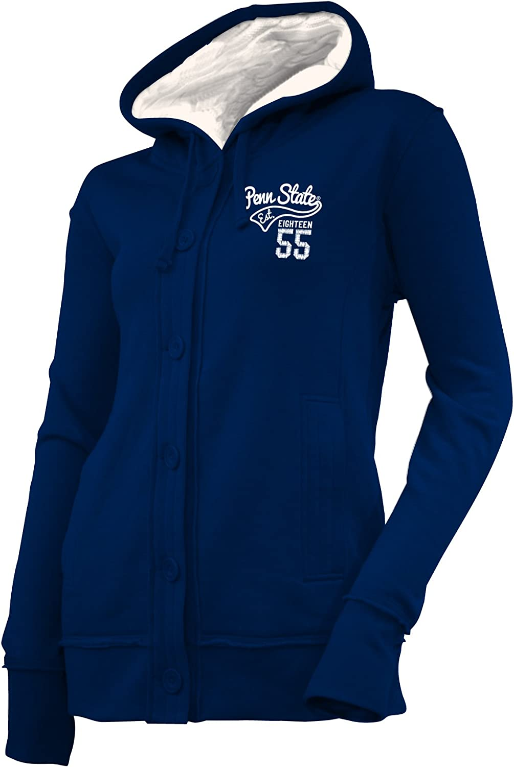 NCAA Penn State Nittany Lions Womens Chunky Cable Hoodie