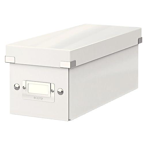 Leitz Wow Click & Store 60410001 Boîte de Rangement pour CD Blanc