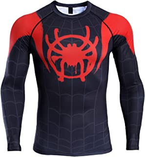 COOLMAX Raglan Sleeve Spiderman 3D Printed T Shirts Men Compression Shirts