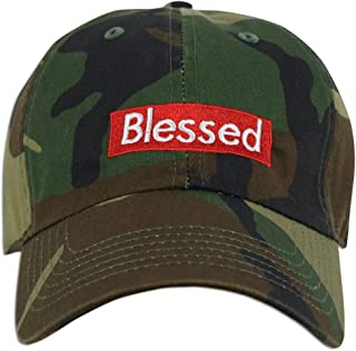 JLGUSA Blessed Embroidered Dad Cap Hat Adjustable Polo Style Unconstructed