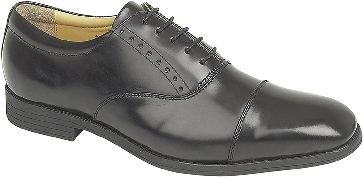 Mens Leather Lace Up Oxford Capped Smart Office Dress Formal shoes Size 6-12