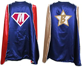 Everfan Personalized Superhero Capes for Kids | Custom Child Super Hero Cape | Cape Costume for Children | Polyester Satin