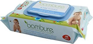 Bambure Natural Baby Wipes, 80 Count