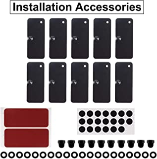 Yoursme Rear Window Louvers Hardware Installation Accessories ABS Material with 3M Two-Sided Mounting Tape for Ford Mustang Dodge Challenger and Camaro(12PCS)