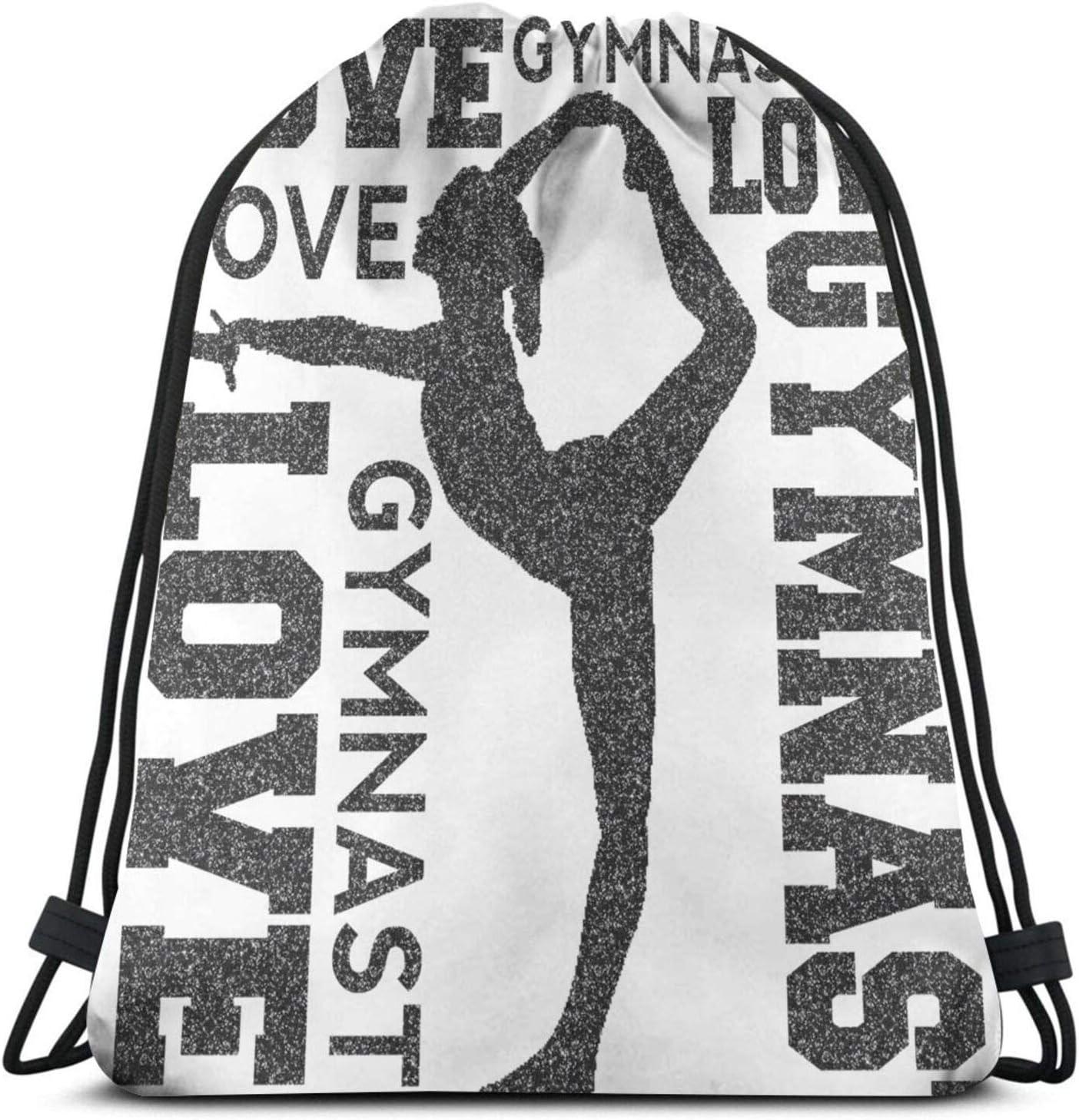 Limited Choice time for free shipping Love Gymnastics Gymnast Unisex Home Sack Bag Sport Drawstrin Gym