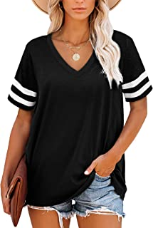 Womens Crewneck Sweatshirts Color Block Long Sleeve...