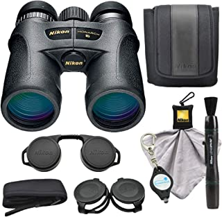 Nikon Monarch 7 10x42 Binoculars (7549), Black Bundle with a Nikon Cleaning Cloth, Lens Pen and a Lumintrail Keychain Light