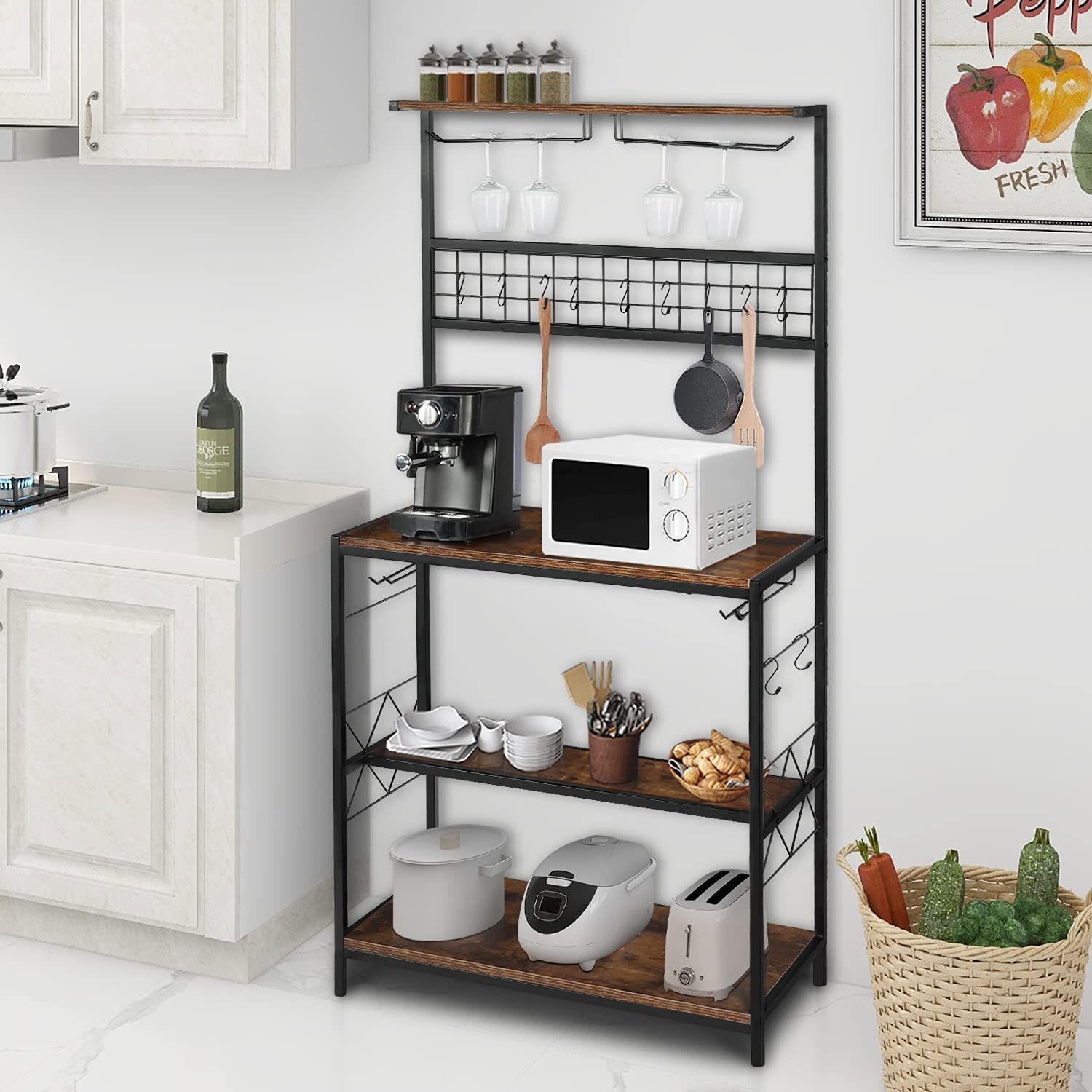 Vikiullf Kitchen Baker's Rack - Microwave Stand Sta Coffee Special price for a limited Max 42% OFF time Oven