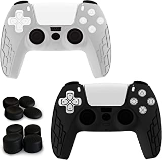 Youdepot 2 Pack PS5 Controller Skins | Sony Playstation 5 Accessories - Silicone Protector Cover Skin for Dualshock with 8...