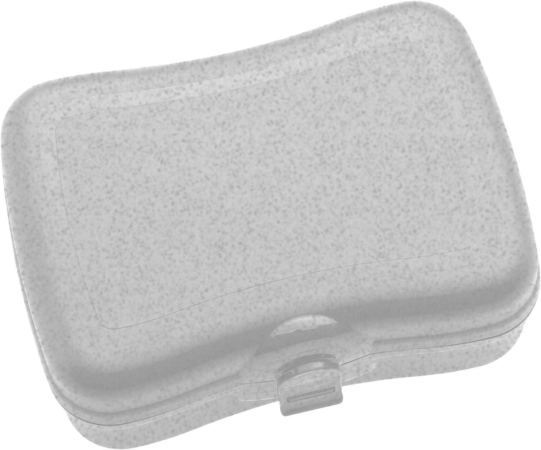 Koziol Basic, Breakfast Box, Lunch to go, Meal Prep, Organic Grey, 168.0x122.0x66.0 mm