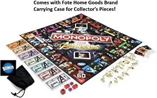Monopoly Avengers Marvel Game - Includes Bonus Carrying Pouch / Case for The 12 Collector's Tokens