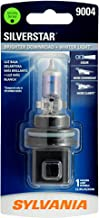 SYLVANIA - 9004 SilverStar - High Performance Halogen Headlight Bulb, High Beam, Low Beam and Fog Replacement Bulb, Brighter Downroad with Whiter Light (Contains 1 Bulb)