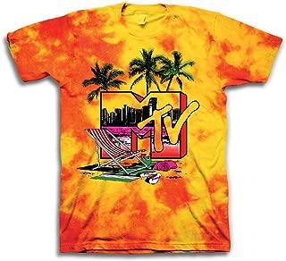 MTV Mens Tie Dye Shirt - #TBT Mens 1980's Clothing - I Want My T-Shirt