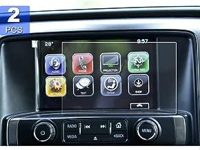 [2PCS] 8-Inch 2014-2019 Chevrolet Silverado 1500 2500HD 3500HD 8 Inch LTZ MyLink PET Plastic Screen Protectors, LFOTPP Navigation Center Touch Media Protective Film