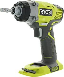 Ryobi One+ P236 18V 1/4 Inch 3,200 RPM 1,600 Inch Pounds Lithium Ion Cordless Impact..