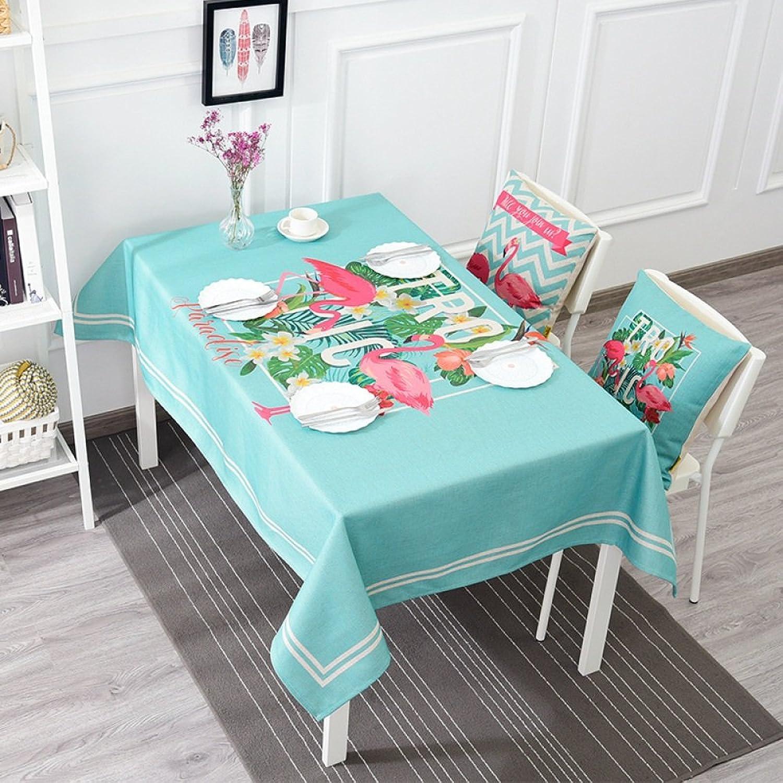 los nuevos estilos calientes WEN-Manteles Mantel a a a prueba de polvo nórdico pastoral manteles de flamencos multiusos mantel de algodón y lino mesa de comedor de TV pao de tabla de té ( Color   C , Tamao   140230cm 55.190.6in )  ventas en linea