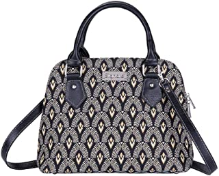 Signare Tapestry Handbag Satchel Bag Shoulder bag and Crossbody Bag and Purse for women with Luxor Art Deco Style