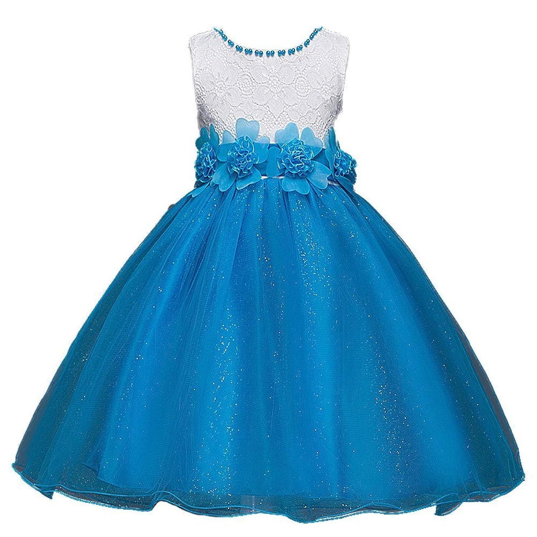 RoRykon 子供ドレス 子どもドレス ワンピース お嬢様 ドレス フォーマル プリンセスドレス 女の子 女児 ガールズ ノースリーブ 結婚式 学園祭 演奏会 ピアノ発表会
