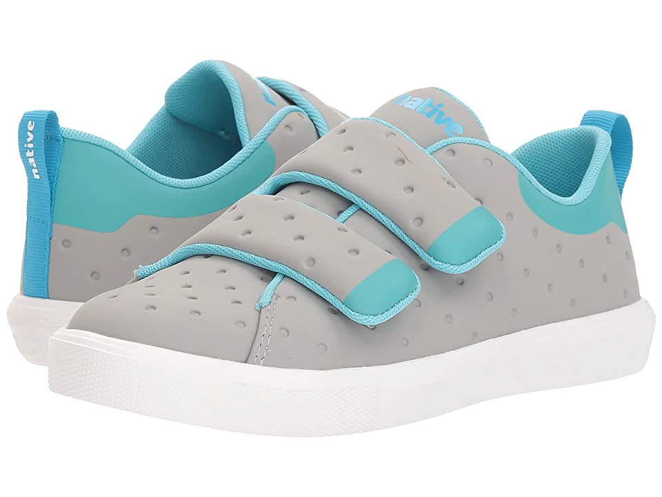 Native Kids Shoes Monaco HL CT (Little Kid) (Pigeon Grey Coated/Pool Blue/Shell White) Kids Shoes