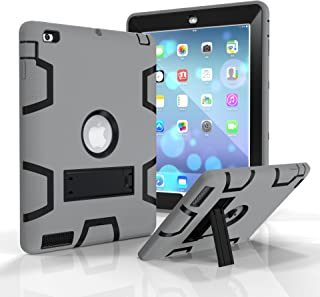iPad 2/3/4 Case, Dooge Three Layers PC&Silicon Armor Defender Heavy Duty Shock-Absorption Rugged Hybrid Full Body Protecti...