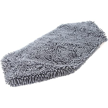 "Soggy Doggy Super Shammy Grey One Size 31"" x 14"" Microfiber Chenille Dog Towel with Hand Pockets"