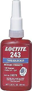 Loctite 243 Threadlocker - Blue Liquid 50 ml Bottle - Shear Strength 1100 psi, Tensile Strength 230 psi [PRICE is per BOTTLE]