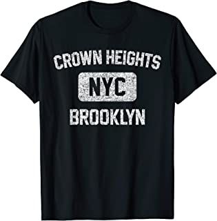 Crown Heights Brooklyn Gym Style Distressed White Print T-Shirt
