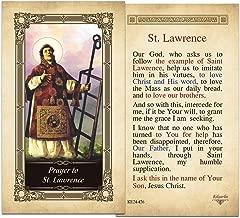 st lawrence prayer card
