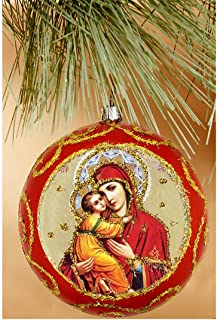 Christmas Motives Ornaments Painted Wooden Russian Christmas Tree Decoration #3