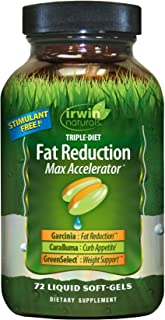 Irwin Naturals Triple-Diet Fat Reduction Max Accelerator - Stimulant Free Healthy Weight Management Supplement - 72 Liquid...