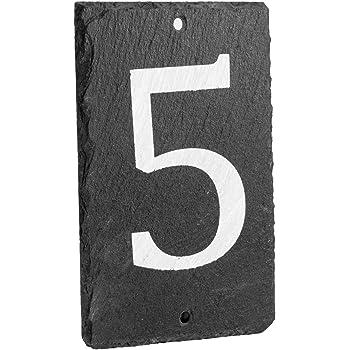 Numero Puerta Casa Everpert Placa de la Puerta de la Muestra de la Casa del Hierro Fundido de los N/úmeros Digitales del Metal Decoraci/ón de la Pared del Caf/é de DIY