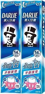 黑人全亮白牙齦護理牙膏 歯茎ケア 歯磨き粉 140g×2個 [並行輸入品]