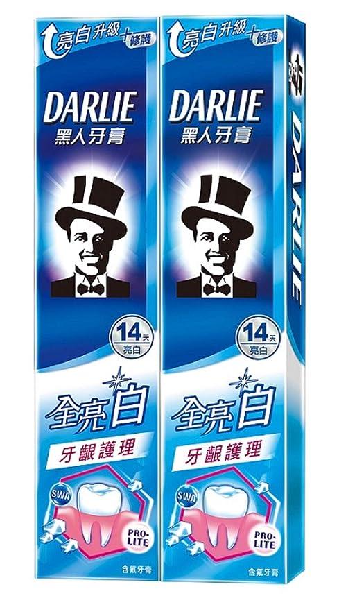 製造ドール飛行機黑人全亮白牙齦護理牙膏 歯茎ケア 歯磨き粉 140g×2個 [並行輸入品]