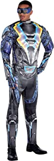 Party City Light-Up Black Lightning Halloween Muscle Costume for Men, Standard, with Accessories
