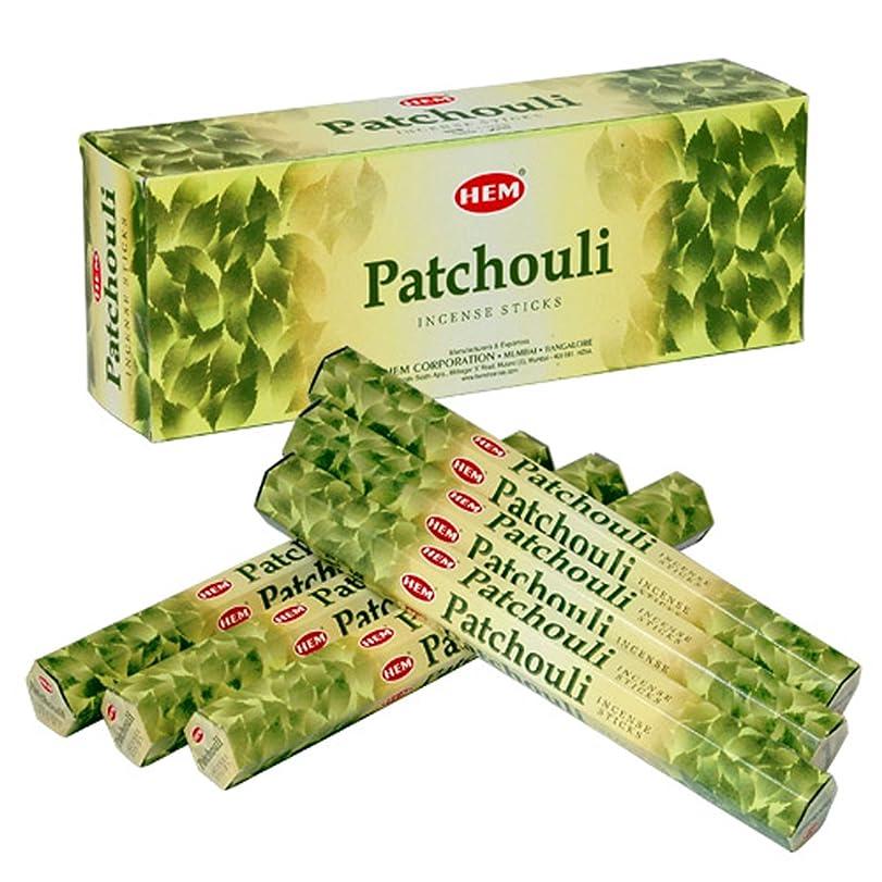 熱意り庭園HEM(ヘム) パチュリー PATCHOULI スティックタイプ お香 6筒 セット [並行輸入品]