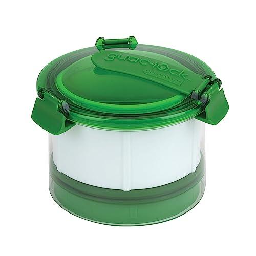 Casabella Guac-Lock 12-24 oz. Guacamole Keeper with Airtight Lid, Clear/Green