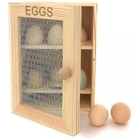 Armoire à oeufs en bois - Egg Cabinet boite à oeuf en bois jusqu'à 12 oeufs - Eviter le plastique et ranger vos oeufs dans cette bois placard à oeufs