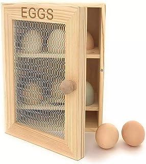 Armoire à oeufs en bois - Egg Cabinet boite à oeuf en bois jusqu'à 12 oeufs - Eviter le plastique et ranger vos oeufs dans...