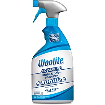 Bissell Woolite Advanced Stain & Odor Remover + Sanitize, 22floz, Wb, 22 Fluid Ounces