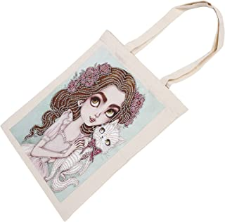 Painting Tote Bag, Convenient Stylish Exquisite Practical Reusable Painting Bag for Family for Friends for Shoulder Bag fo...