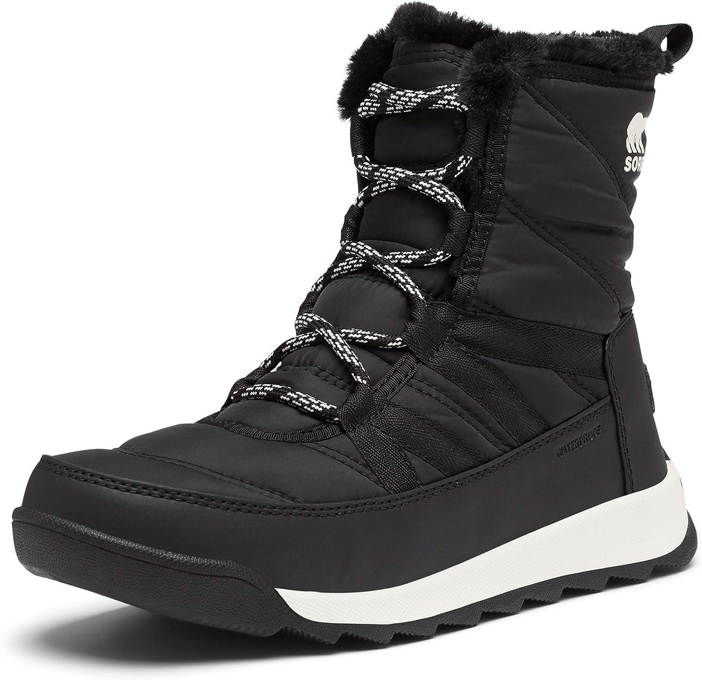 SOREL Women's Whitney Short Lace Boot — Waterproof Nylon Winter Boots