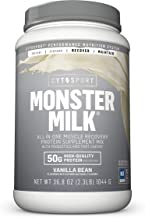 CYTOSPORT Monster Milk Recovery Protein Supplement Mix, 50g Protein, 2.3 Pound, 2 Servings Vanilla Bean 1 Count