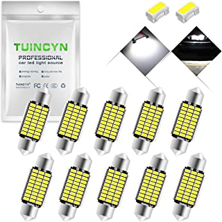 4 Pieces 6411 6413 6418 6461 6486X DE3423 DE3425 3030 SMD Feston Int/érieur D/ôme Ampoules,Lumi/ères de Plaque Dimmatriculation C5W 36MM LED Ampoule avec Canbus 6000K White 12V